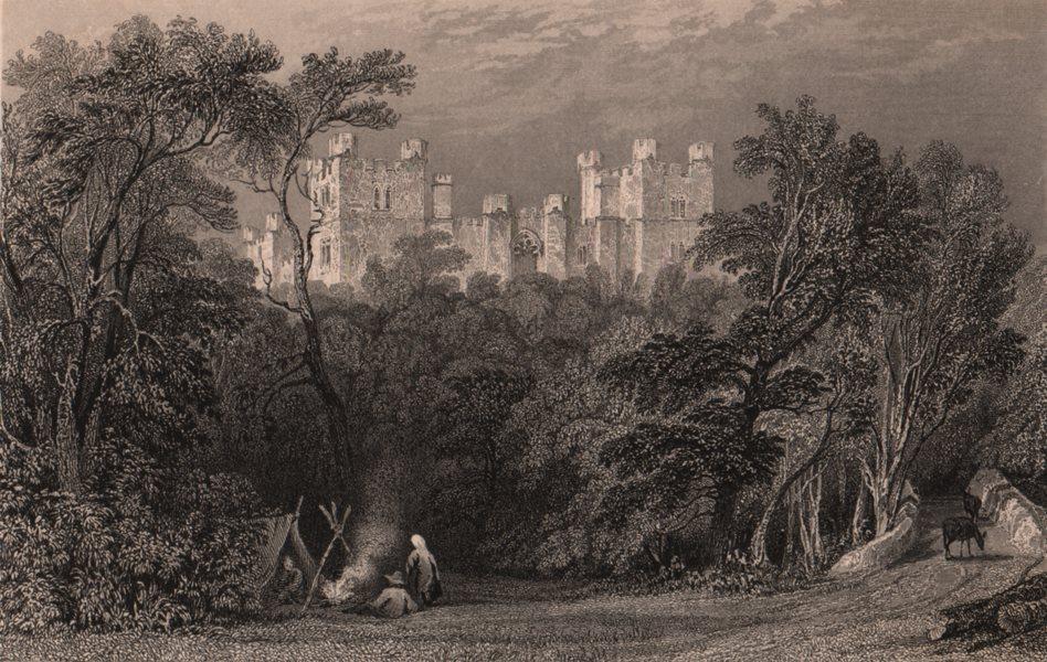 Associate Product COUNTY DURHAM. Lumley Castle. ALLOM 1839 old antique vintage print picture