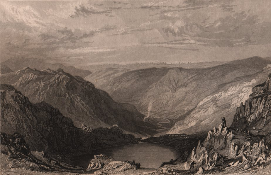 Associate Product LAKE DISTRICT. Small-Water Tarn from Nanbield towards Mardale. ALLOM 1839
