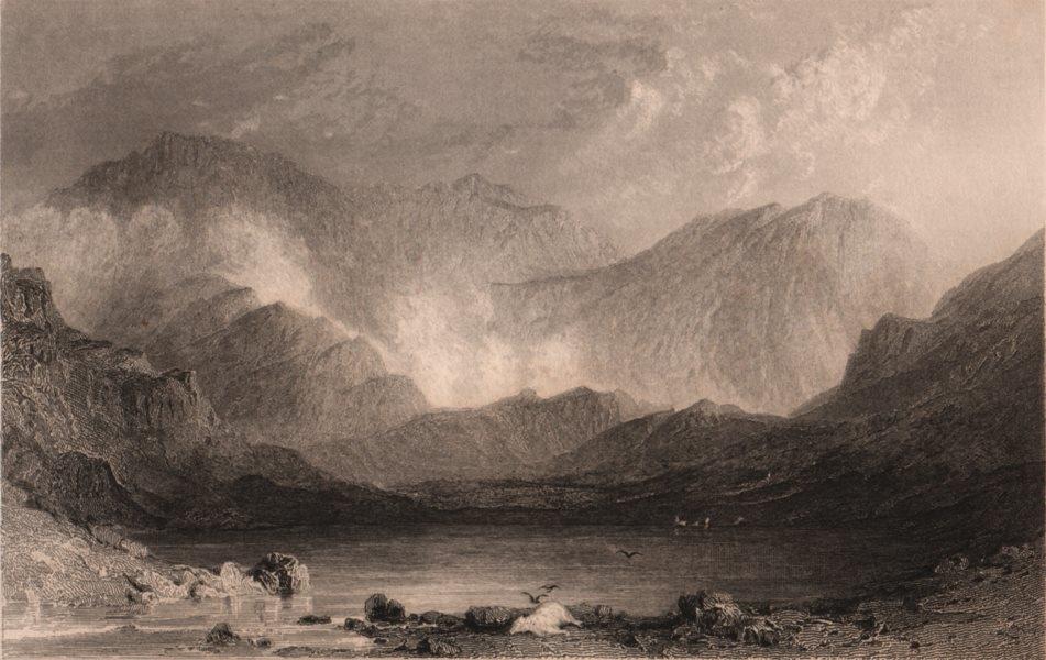 Associate Product LAKE DISTRICT. Sty Head Tarn, Cumberland. Cumbria. ALLOM 1839 old print