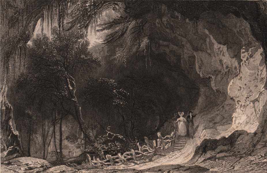 Associate Product COUNTY DURHAM. The Grotto, in Castle Eden Dene. ALLOM 1839 old antique print