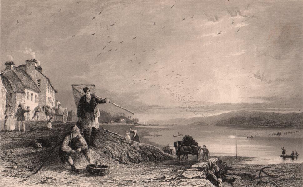 Associate Product CUMBRIA. Milnthorpe Sands, Westmoreland. ALLOM 1839 old antique print picture