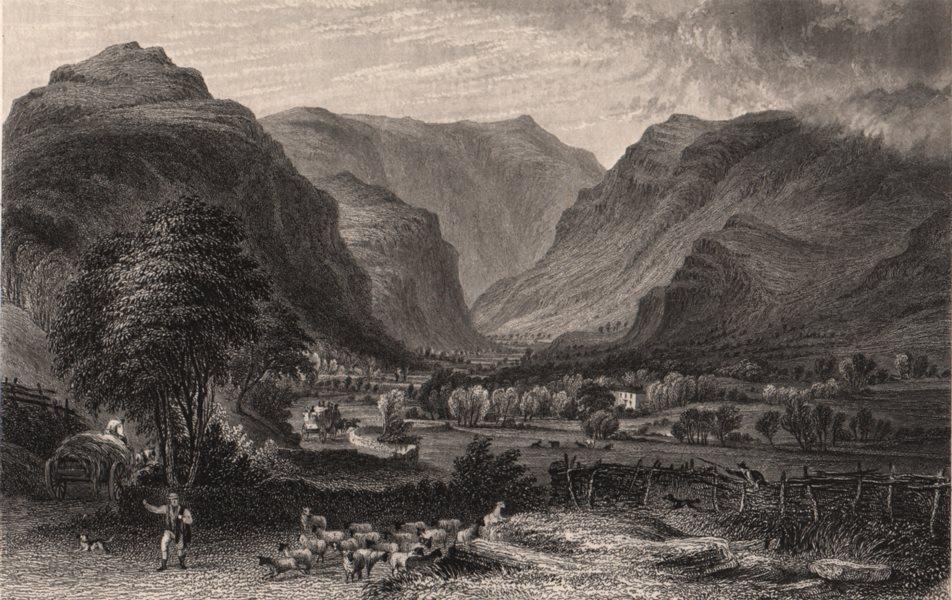 Associate Product LAKE DISTRICT. Vale of St. John & Saddleback (Blencathra) . Cumbria 1839 print