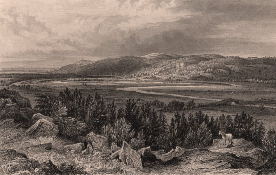 Associate Product LAKE DISTRICT. Muncaster Castle, Cumberland. Cumbria 1839 old antique print