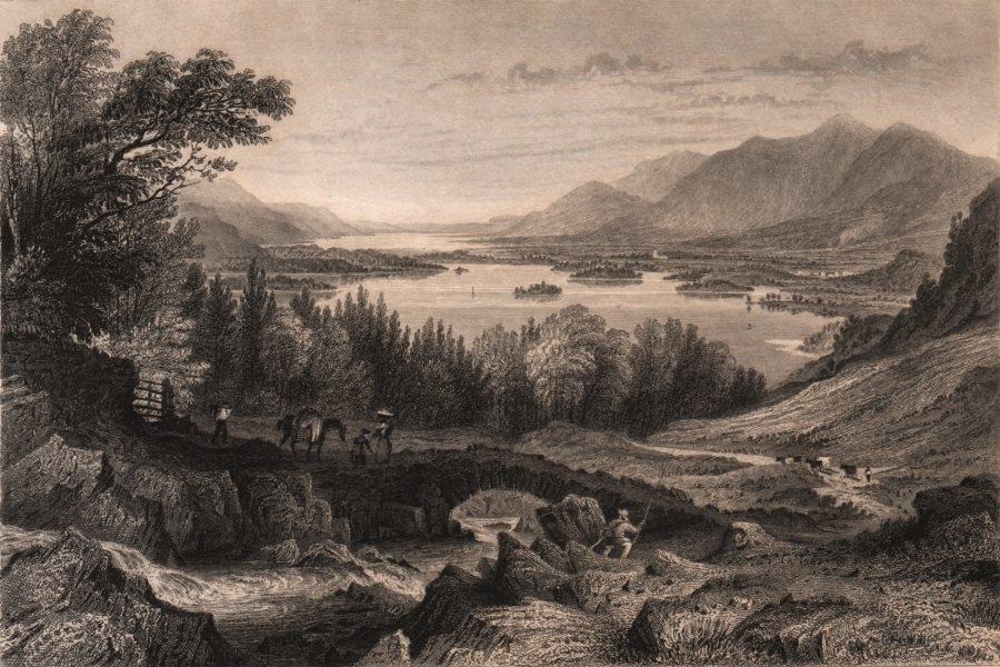 Associate Product LAKE DISTRICT. Derwent & Bassenthwaite lakes. Keswick & Skiddaw. Cumbria 1839