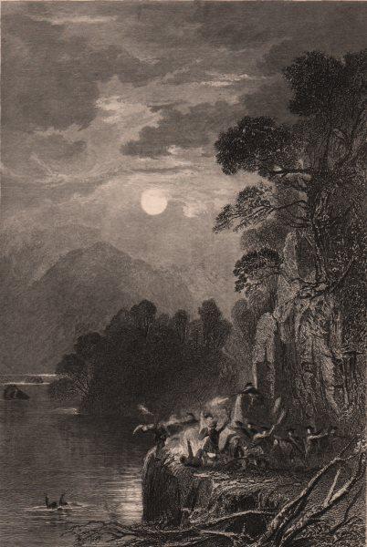 LAKE DISTRICT. Stybarrow Crag, Westmoreland. Cumbria. ALLOM 1839 old print