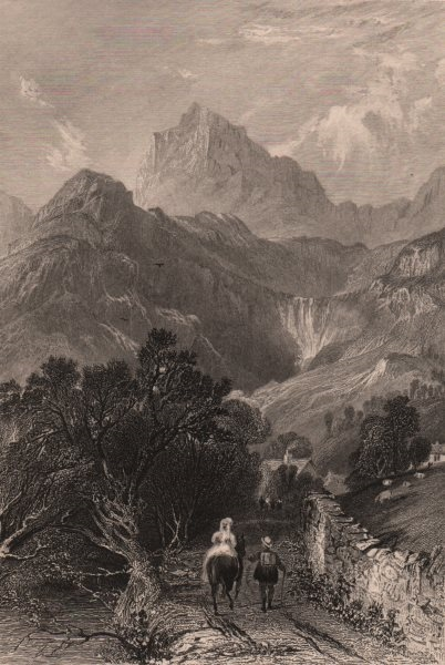 Associate Product LAKE DISTRICT. Mill Beck, Great Langdale. Cumbria. ALLOM 1839 old print