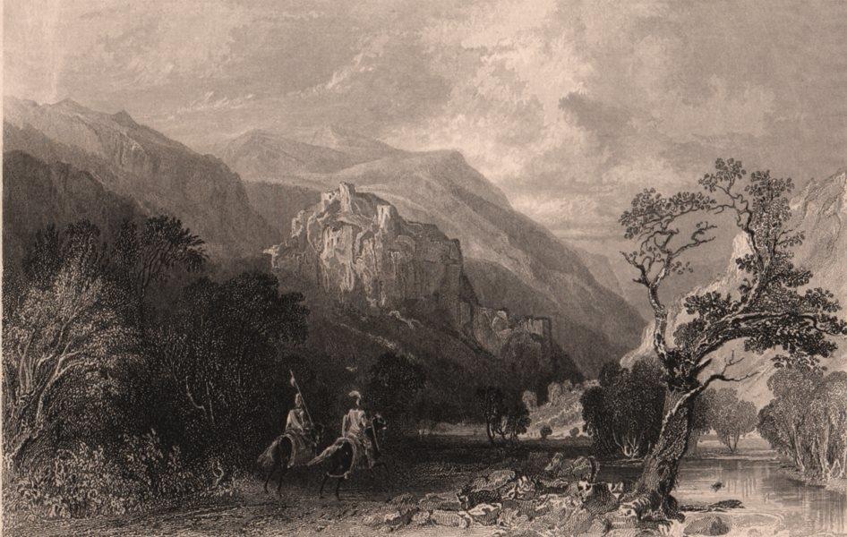 Associate Product LAKE DISTRICT. Castle rock, Vale of St. John, Cumberland. Cumbria. ALLOM 1839
