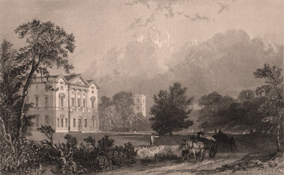 Associate Product NORTHUMBERLAND. Bywell Hall. ALLOM 1839 old antique vintage print picture