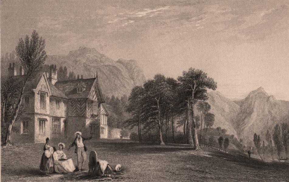 Associate Product LAKE DISTRICT. Wasdale Hall, Cumberland. Cumbria. ALLOM 1839 old antique print