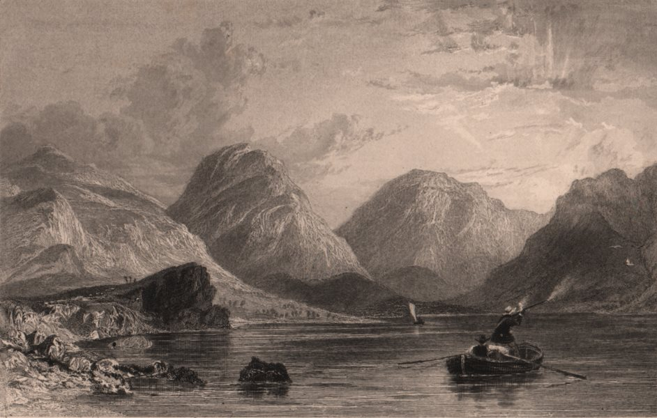 Associate Product LAKE DISTRICT. Wastwater, Cumberland. Cumbria. ALLOM 1839 old antique print
