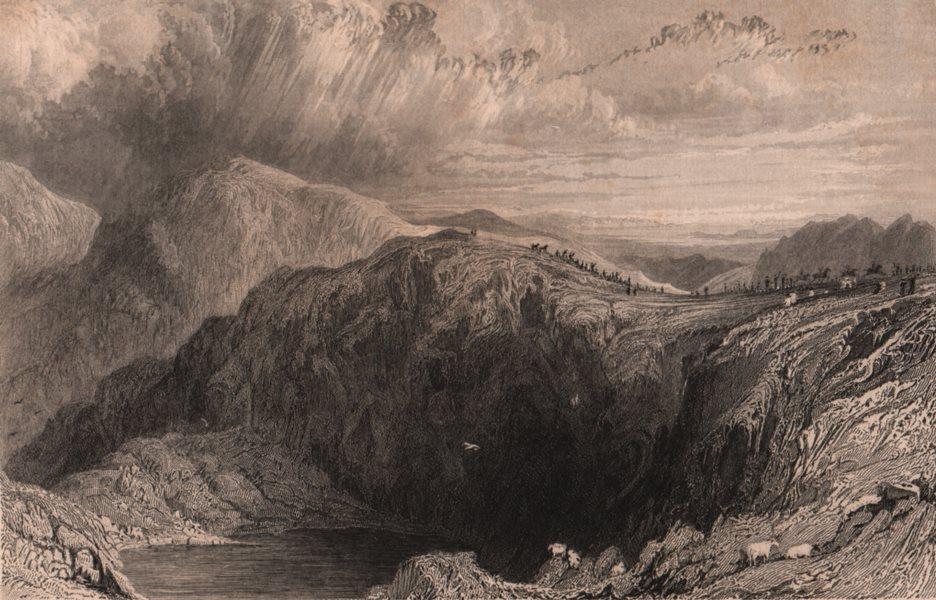 Associate Product LAKE DISTRICT. Blea-water Tarn from High Street Mountain. Cumbria. ALLOM 1839