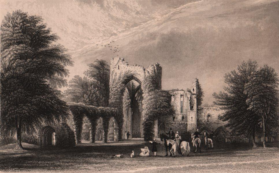 Associate Product LAKE DISTRICT. Calder Abbey, Cumberland. Cumbria 1839 old antique print