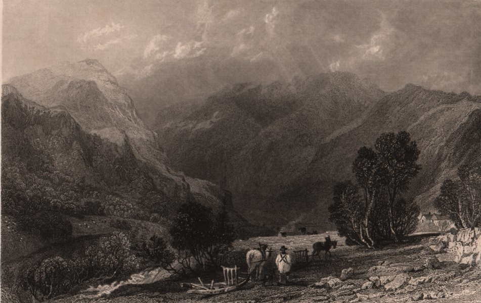 Associate Product LAKE DISTRICT. Grizedale, near Ullswater, Westmoreland. Cumbria. ALLOM 1839