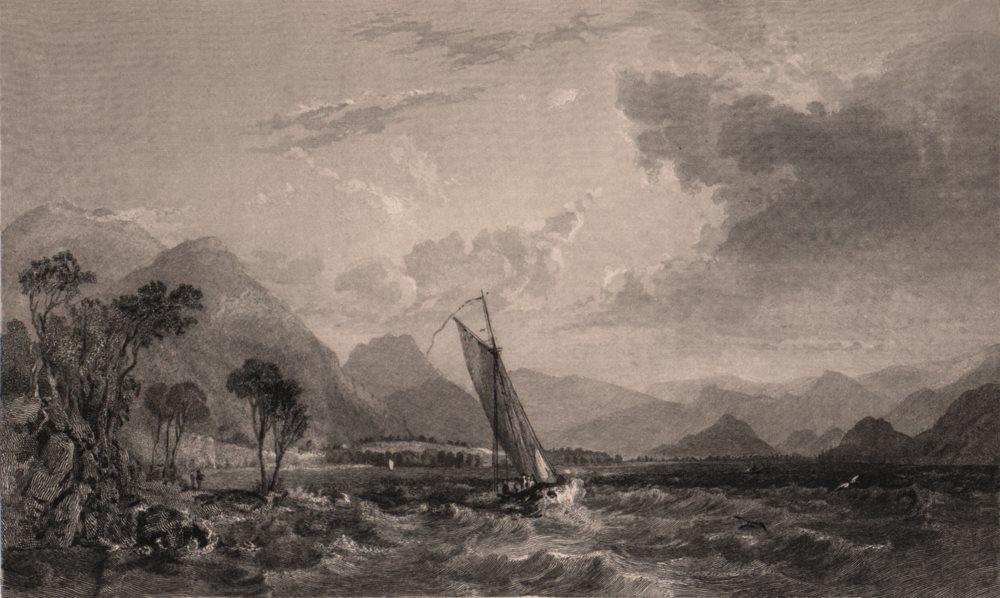 Associate Product LAKE DISTRICT. Bassenthwaite Lake looking south, Cumberland. Cumbria. ALLOM 1839
