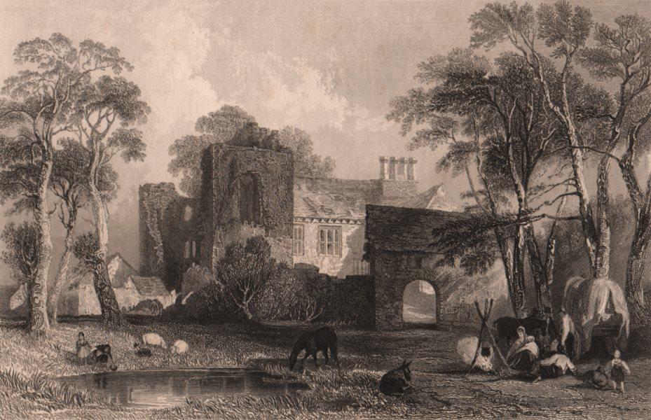 Associate Product LAKE DISTRICT. Burneside Hall, Westmoreland. Cumbria. ALLOM 1839 old print
