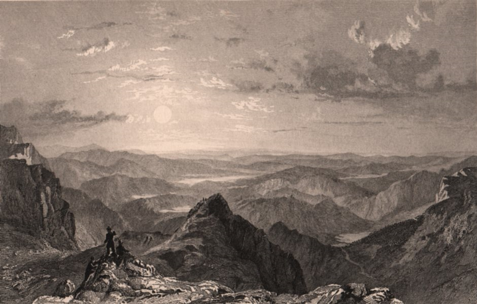 Associate Product LAKE DISTRICT. SE view from Langdale Pikes, Westmoreland. Cumbria. ALLOM 1839