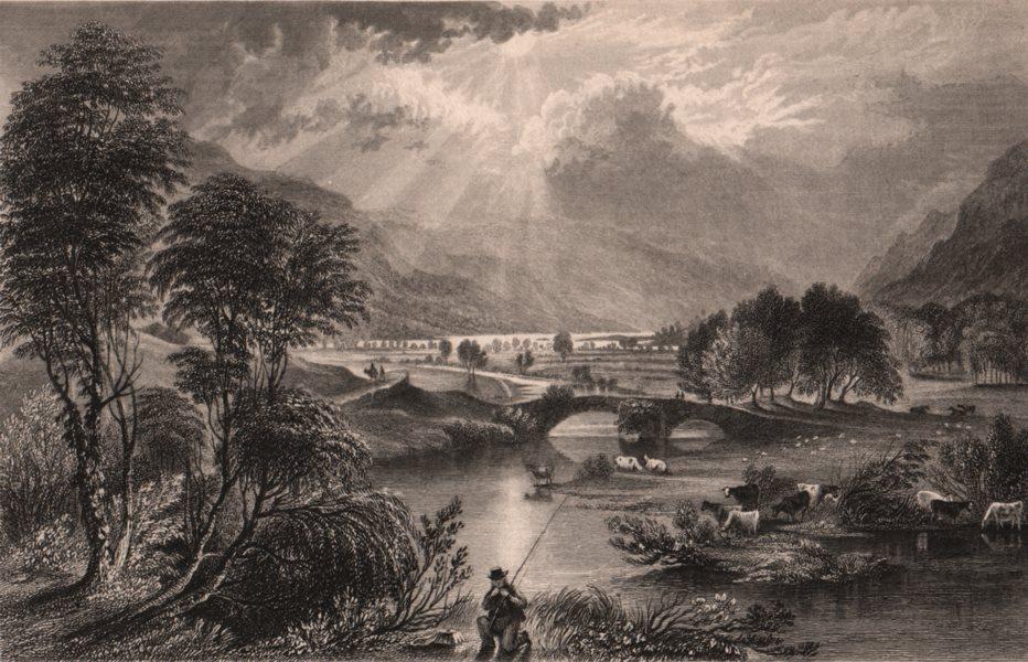 Associate Product LAKE DISTRICT. Goldrill beck & Ullswater, Cumberland. Cumbria 1839 print