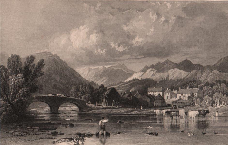 Associate Product LAKE DISTRICT. Skelwith Bridge, Westmoreland. Cumbria. ALLOM 1839 old print