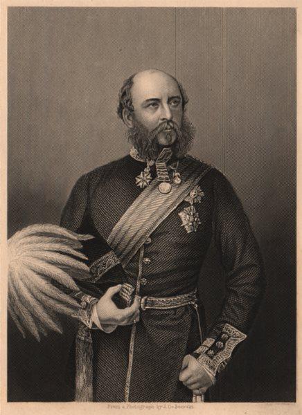 CRIMEAN WAR. H. R. H. The Duke Of Cambridge 1860 old antique print picture