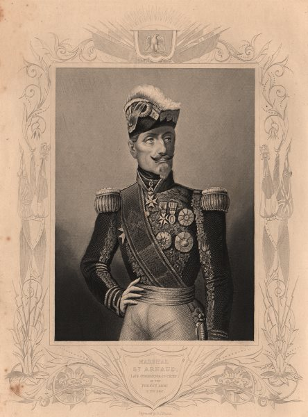Associate Product CRIMEAN WAR. Marshal St. Arnaud Commander-in-Chief of the French Army 1860