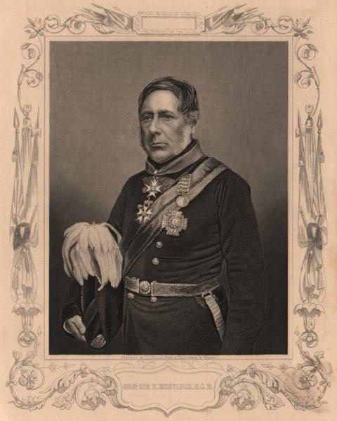 Associate Product CRIMEAN WAR. General Sir H. Bentinck, KCB 1860 old antique print picture