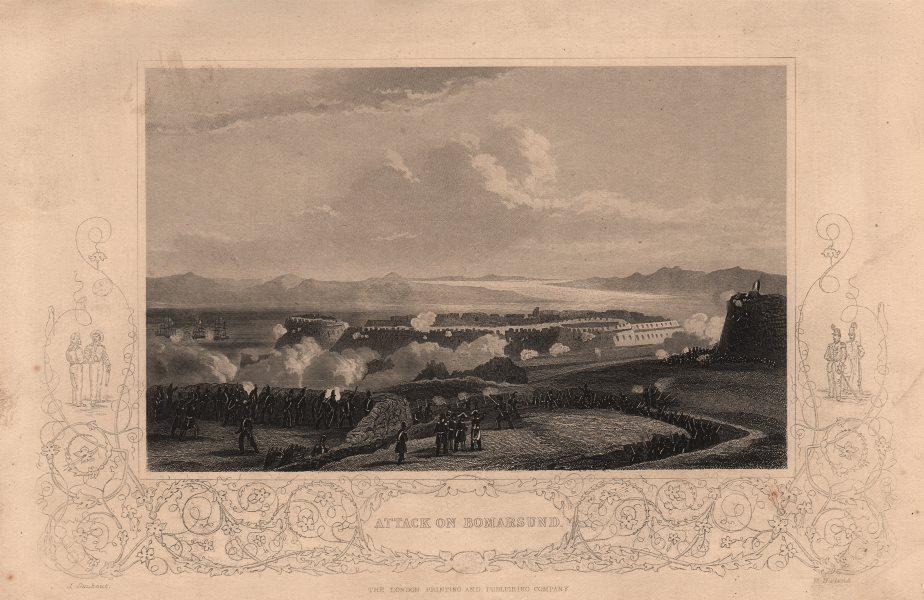 Associate Product CRIMEAN WAR. Attack on Bomarsund 1860 old antique vintage print picture