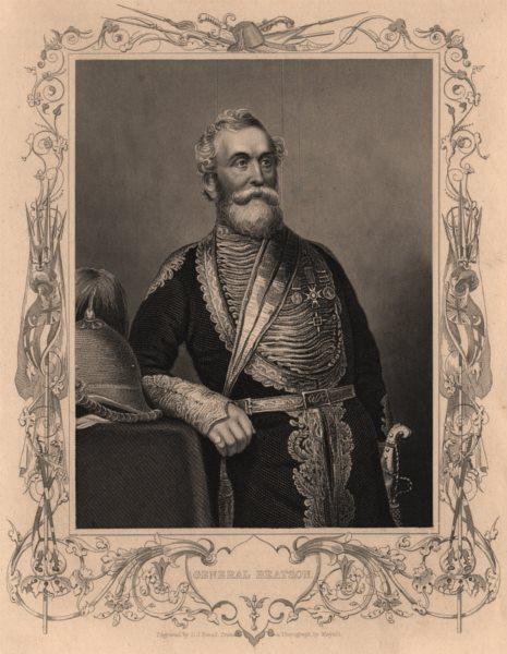 Associate Product CRIMEAN WAR. General Beatson 1860 old antique vintage print picture