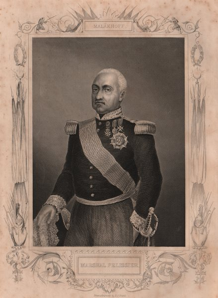 Associate Product CRIMEAN WAR. Marshal Pelissier 1860 old antique vintage print picture