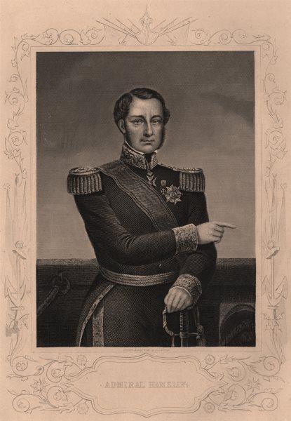 CRIMEAN WAR. Admiral Hamelin 1860 old antique vintage print picture