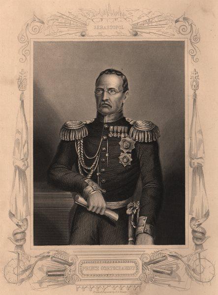 Associate Product CRIMEAN WAR. Prince Gortschakoff 1860 old antique vintage print picture