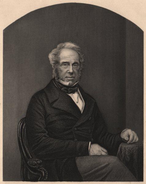 CRIMEAN WAR. Viscount Palmerston, K. C. B.  1860 old antique print picture