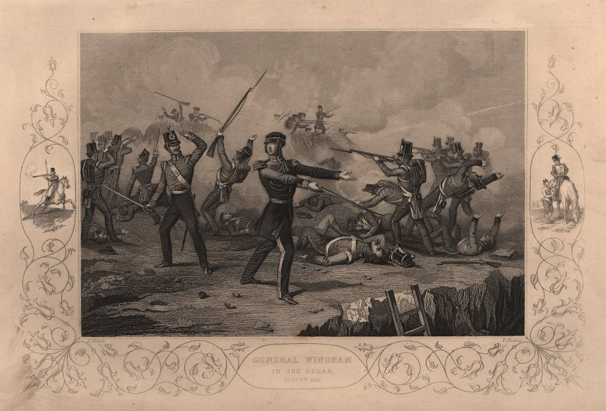 Associate Product CRIMEAN WAR. General Windham in the Redan Sept 8th 1855 1860 old antique print