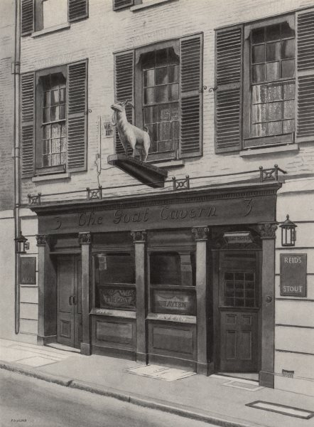 Associate Product MAYFAIR. The Goat Tavern, Stafford Street, by Phyllis Dimond 1947 old print