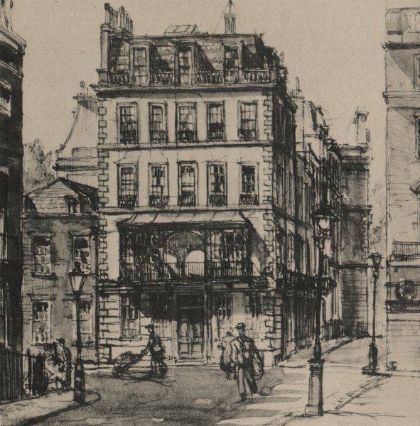 Associate Product ST JAMES'S. Cleveland Row, by Tom Waghorn 1947 old vintage print picture