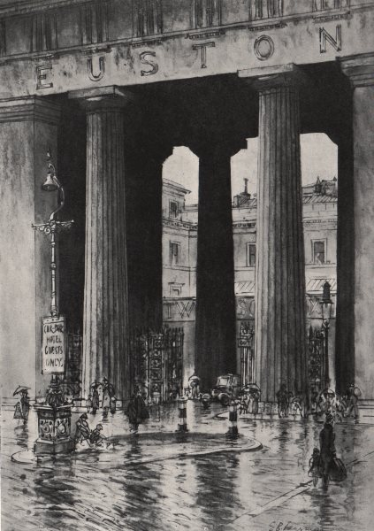 Associate Product LONDON. Euston Arch, by E. B. Musman 1947 old vintage print picture