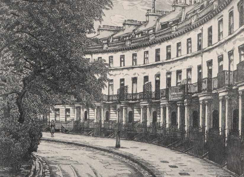 Associate Product SOUTH KENSINGTON. Pelham Crescent, by Charles Ginner 1947 old vintage print