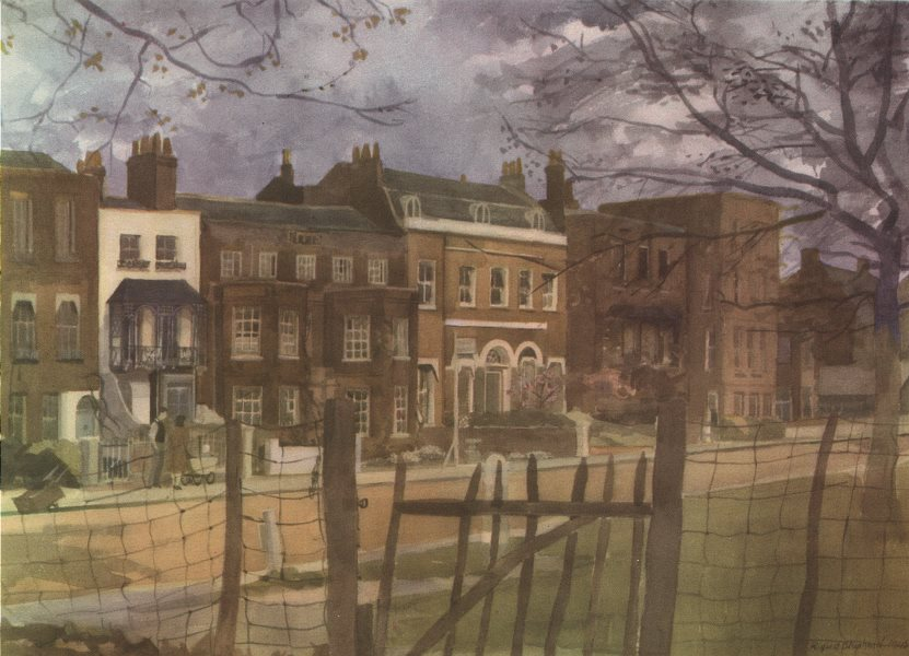 Associate Product LONDON. Kew Green, by Rupert Shephard 1947 old vintage print picture