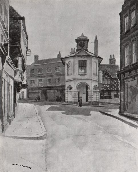 Associate Product GODALMING. The High Street, by W. E. Narraway. Surrey 1947 old vintage print