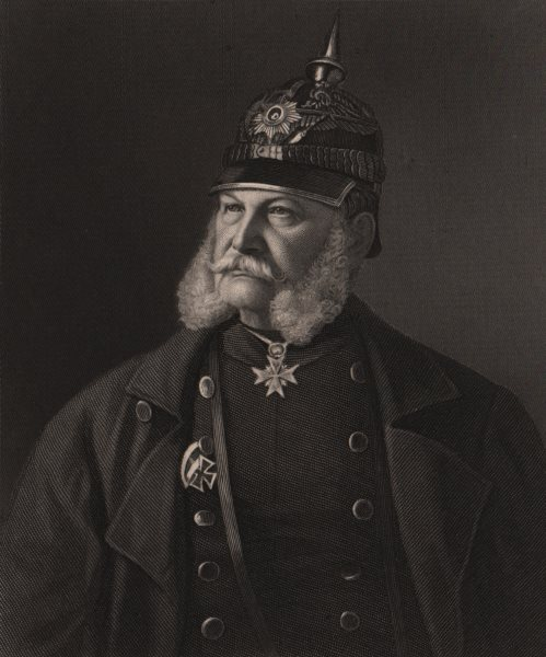 Associate Product FRANCO-PRUSSIAN WAR. William, I. King of Prussia & Emperor of Germany 1875