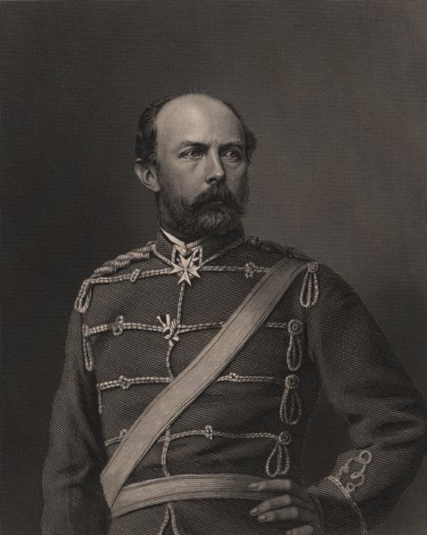 Associate Product FRANCO-PRUSSIAN WAR. Prince Friedrich Carl Nicolaus of Prussia. Prussia 1875