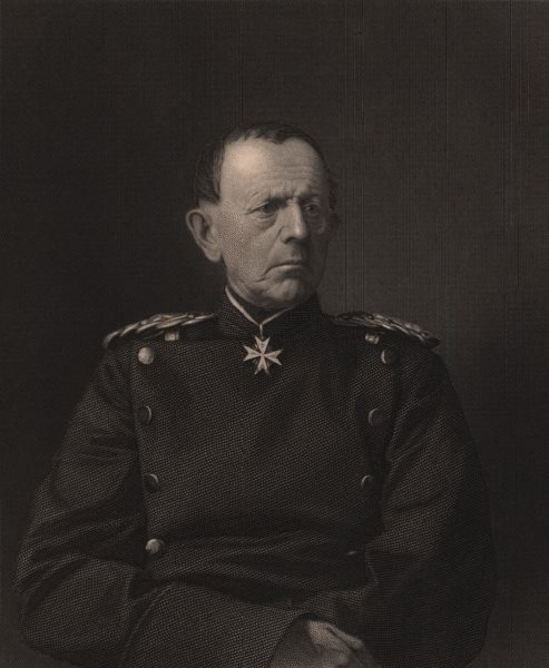 Associate Product FRANCO-PRUSSIAN WAR. General Von Moltke. Germany 1875 old antique print