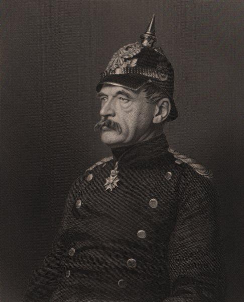 FRANCO-PRUSSIAN WAR. Albrecht Theodor Emil Graf von Roon. Prussia 1875 print