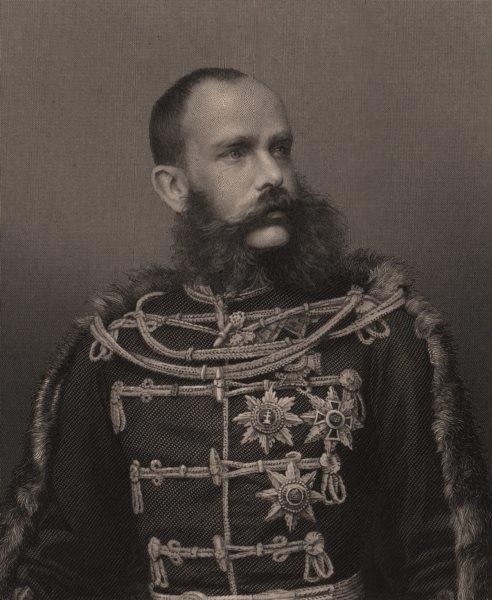 Associate Product FRANCO-PRUSSIAN WAR. Francis Joseph, Emperor of Austria 1875 old antique print