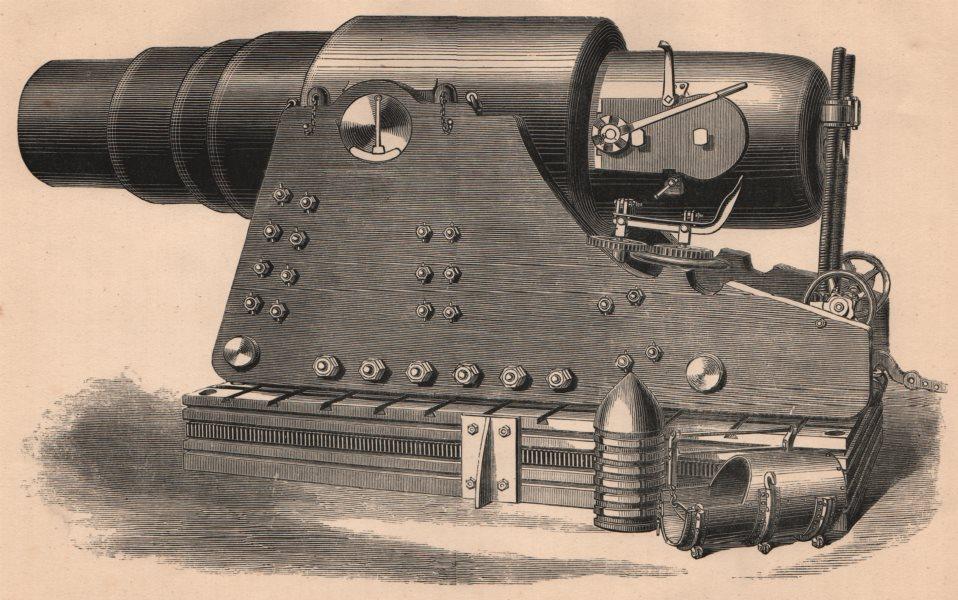 Associate Product FRANCO-PRUSSIAN WAR. Krupp's 1000-Pounder gun. Militaria 1875 old print