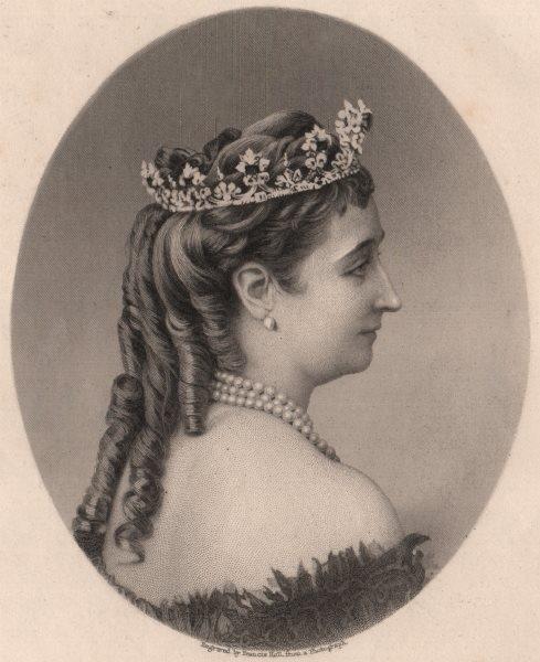 Associate Product FRANCO-PRUSSIAN WAR. Eugenie, Empress Regent of France 1875 old antique print