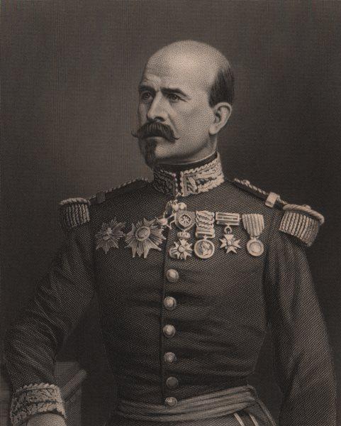 Associate Product FRANCO-PRUSSIAN WAR. General Trochu. France 1875 old antique print picture
