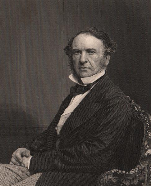 Associate Product GLADSTONE. The Rt. Hon. William Ewart Gladstone, MP. Politics.  1875 old print