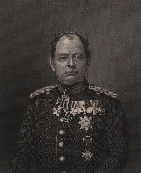 Associate Product FRANCO-PRUSSIAN WAR. General Von Werder. Prussia 1875 old antique print