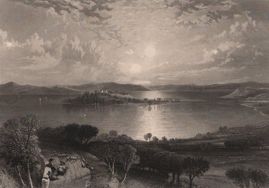 Associate Product MAINAU ISLAND. Lake Constance (Bodensee). Steel engraving. Germany 1875 print