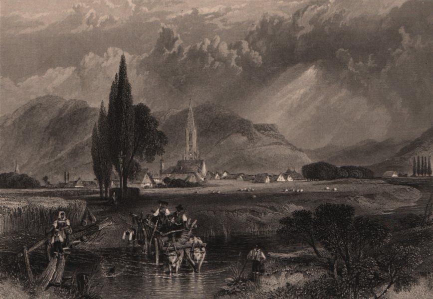 Associate Product FREIBURG IM BREISGAU. Freiburger Münster / Minster. Germany. Rhine Valley 1875